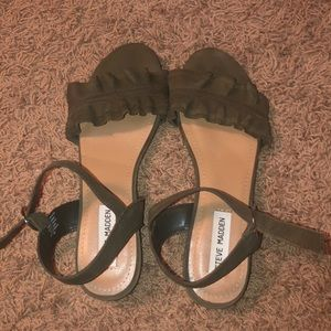 Steve Madden Sandals Color- Army Green